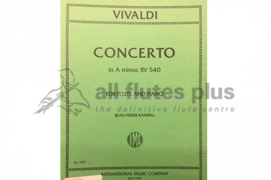 Vivaldi Concerto in A Minor RV540-Flute and Piano-IMC