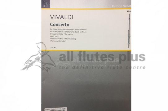 Vivaldi Concerto in D Major Opus 10/3-Flute and Piano-Schott
