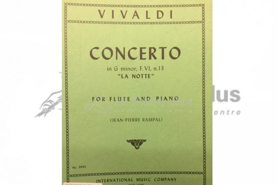 Vivaldi Concerto in G Minor La Notte-Flute and Piano-IMC