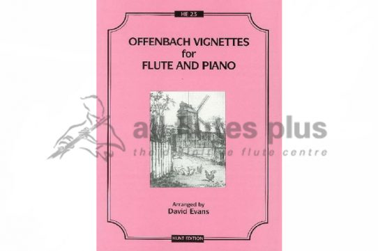 Offenbach Vignettes-Flute and Piano-Hunt Edition