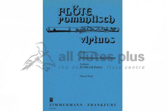 Paggi Rimembranze Napoletane Fantasie-Flute and Piano-Zimmermann
