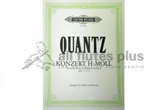 Quantz Concerto in B Minor QV5 272-Flute and Piano-Edition Peters