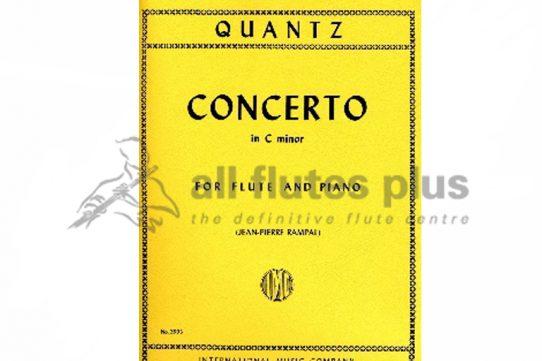 Quantz Concerto in C Minor-Flute and Piano-Rampal Edition-IMC