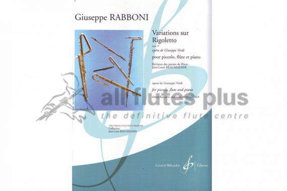 Rabboni Variations Sur Rigoletto Opus 55-Piccolo, Flute and Piano-Billaudot