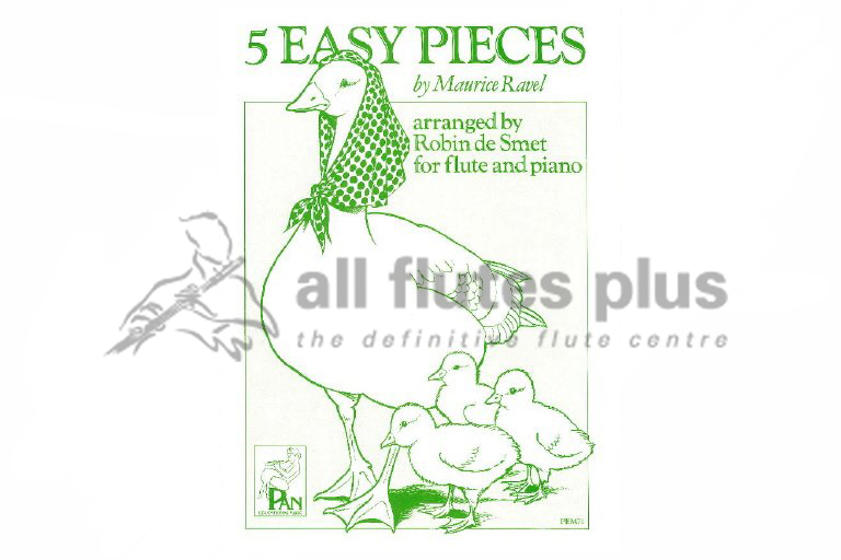 Ravel 5 Easy Pieces-Flute and Piano-Pan Educational Music