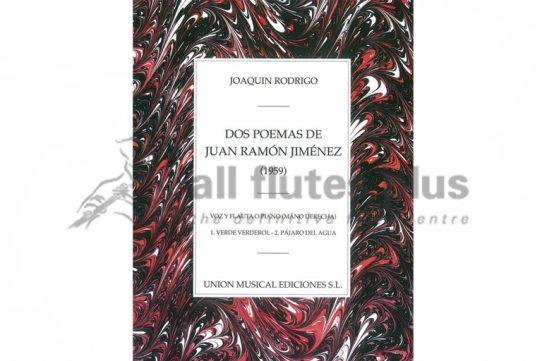 Rodrigo Dos Poemas De Juan Ramon Jimenez 1959-Flute and Piano-Union Musical Ediciones