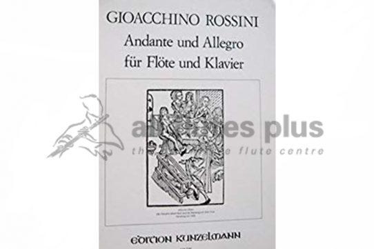 Rossini Andante and Allegro-Flute and Piano-Edition Kunzelmann
