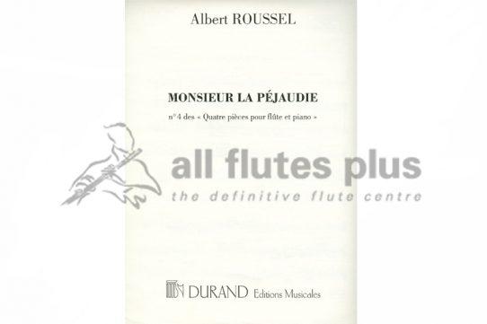 Roussel Monsieur La Pejaudie-Flute and Piano-Durand