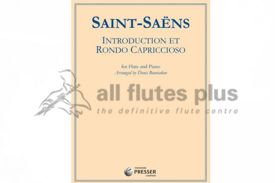 Saint Saens Introduction and Rondo Capriccioso-Flute and Piano-Theodore Presser