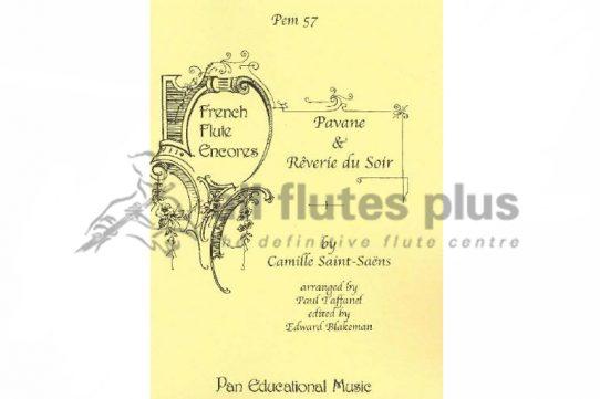 Saint Saens Pavane and Reverie du Soir-Flute and Piano-Pan Educational Music