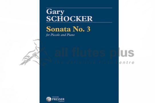 Schocker Sonata No 3-Piccolo and Piano-Theodore and Presser
