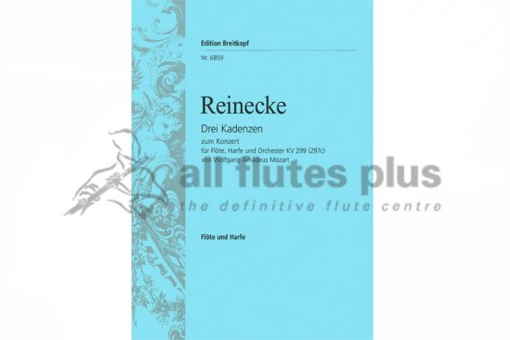 Three Cadenzas from Mozart's Flute and Harp Concerto by Reinecke-Breitkopf