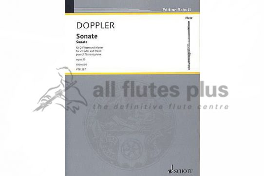 Doppler Sonata Opus 25-2 flutes and Piano-Schott