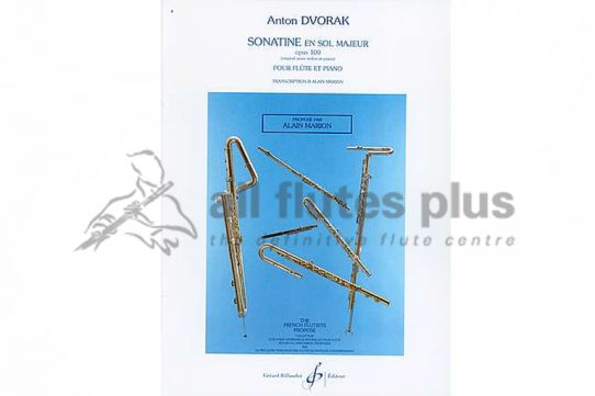 Dvorak Sonatine in G Major Op 100-Flute and Piano-Transcribed by Marion-Billaudot