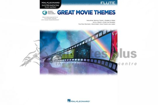 Great Movie Themes Flute-Flute Book and Online Audio-Hal Leonard