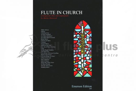 Flute in Church-25 Hymns and Pieces-Flute and Organ/Piano-Emerson Edition