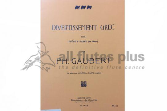 Gaubert Divertissement Grec-Flute and Harp or Piano-Leduc