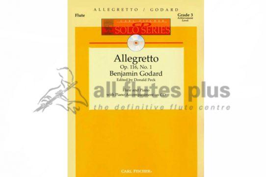 Godard Allegretto Op 116 No 1-Flute and Piano with CD-Carl Fischer
