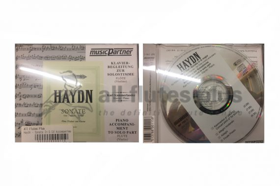 Haydn Sonata in G Major Piano Accompaniment CD to Solo Flute Part-Flute and Piano-Edition Peters/Musicpartner