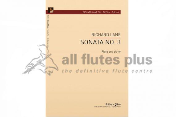 Lane Sonata No 3-Flute and Piano-Editions Bim