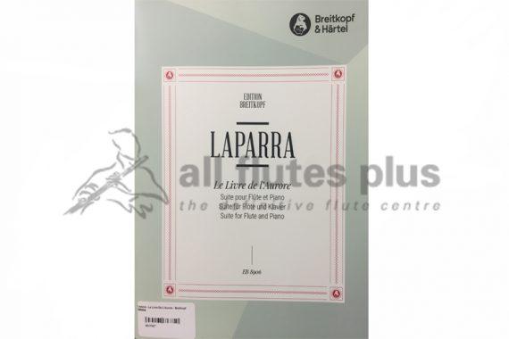 Laparra Le Livre de L'Aurore Suite-Flute and Piano-Edition BreitkopfLaparra Le Livre de L'Aurore Suite-Flute and Piano-Edition Breitkopf
