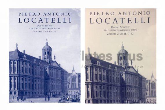 Locatelli Dodici Sonata Op II / 1-6-Flute and Basso Continuo-Schott