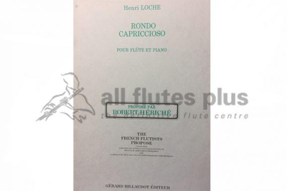 Loche Rondo Capriccioso-Flute and Piano-Billaudot