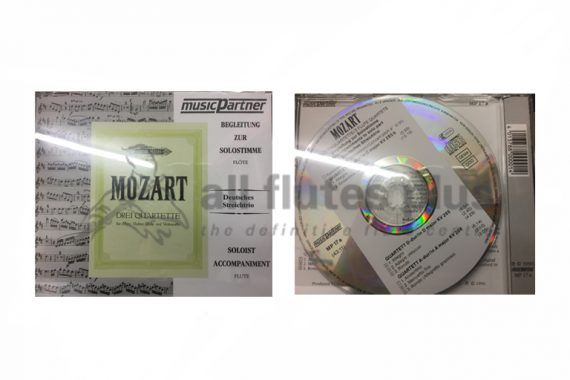 Mozart Three Flute Quartets CD Accompaniment-Flute and String Trio-Edition Peters