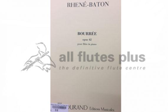Rhene-Baton Bourree Opus 42-Flute and Piano-Durand