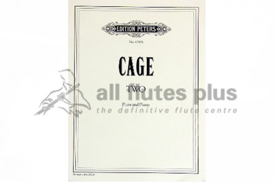 Cage Two-Flute and Piano-Edition Peters