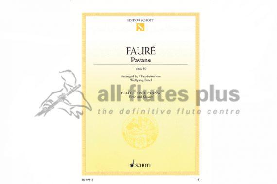 Faure Pavane Opus 50-Flute and Piano-Schott