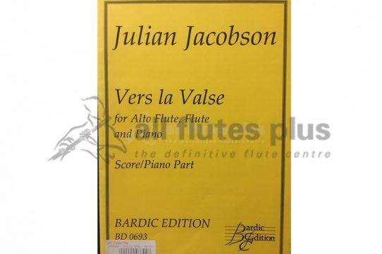 Jacobson Vers La Valse-Alto Flute, Flute and Piano-Bardic Edition
