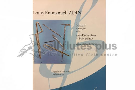 Jadin Sonata in D Major Opus X No 1-Flute and Piano-Billaudot