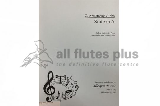 Armstrong Gibbs Suite in A-Flute and Piano-OUP