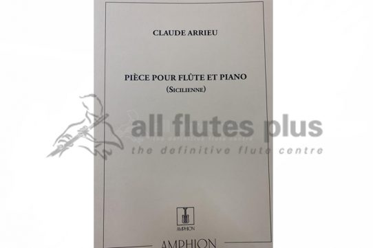 Arrieu Piece Siciliene-Flute and Piano-Amphion