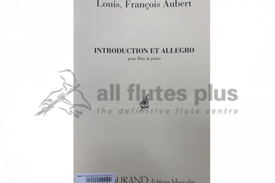 Aubert Introduction and Allegro-Flute and Piano-Durand