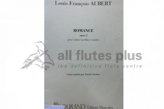 Aubert Romance Opus 2-Flute and Piano-Durand