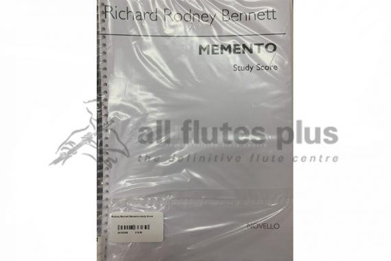 Bennett Memento Study Score-Novello