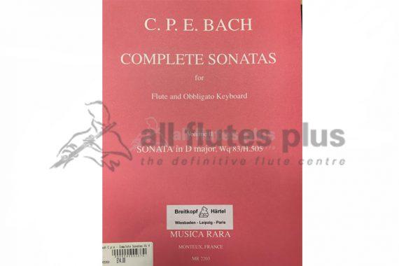 CPE Bach Complete Sonatas Volume 2-Flute and Obligato Keyboard-Musica RaraCPE Bach Complete Sonatas Volume 2-Flute and Obligato Keyboard-Musica Rara