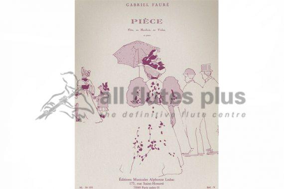 Faure Piece-Flute and Piano-Leduc