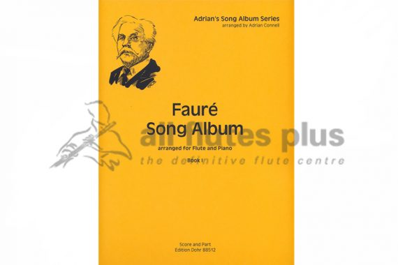 Faure Song Album Book 1-Flute and Piano-Edition Dohr