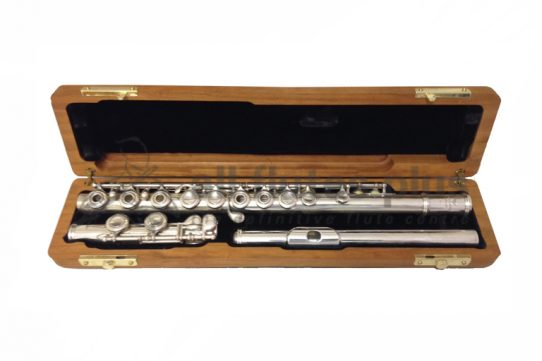 Powell Commercial All Silver Secondhand Flute with Inline G and C Footjoint-c8239