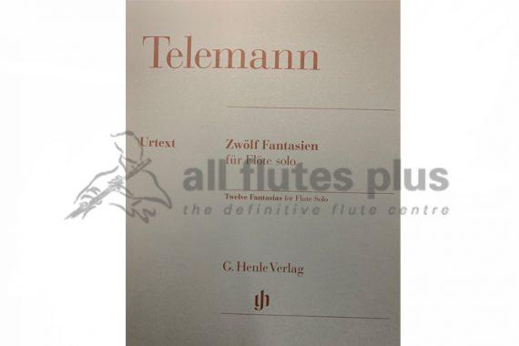 Telemann 12 Fantasias for Flute Solo-Henle Verlag
