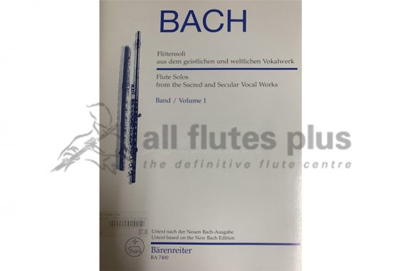 Bach Flute Solos from the Sacred and Secular Vocal Works Volume 1-Barenreiter