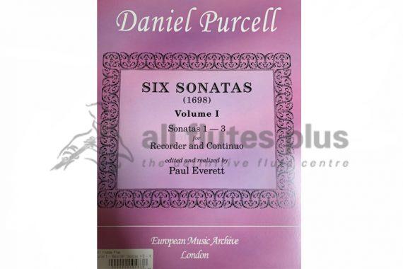 Daniel Purcell Six Sonatas 1-3 Volume 1-Recorder and Continuo-EMA