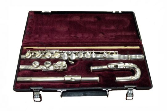 Jupiter 511E-II Secondhand Flute with Straight and Curved Headjoints-c8814