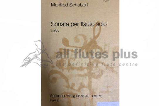Manfred Schubert Sonata per Flauto Solo 1966-DVfM
