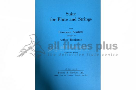 Suite for Flute and Strings after Scarlatti-Flute and Piano-Boosey and Hawkes