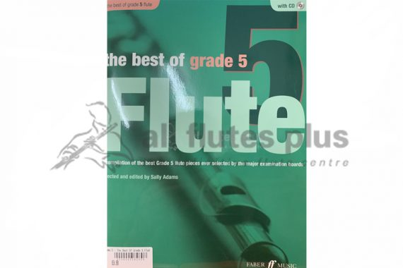 The Best of Grade 5 Flute-Flute and Piano with CD-Edited by Sally Adams-Faber Music