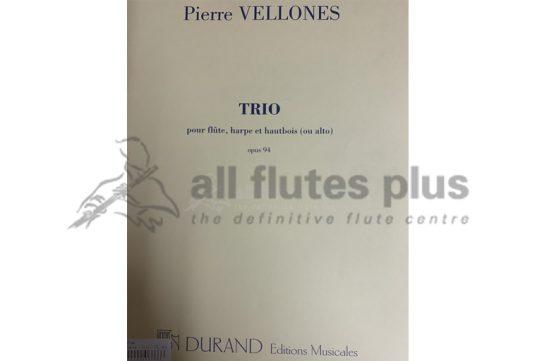 Vellones Trio-Flute, harp and oboe Opus 94-Durand